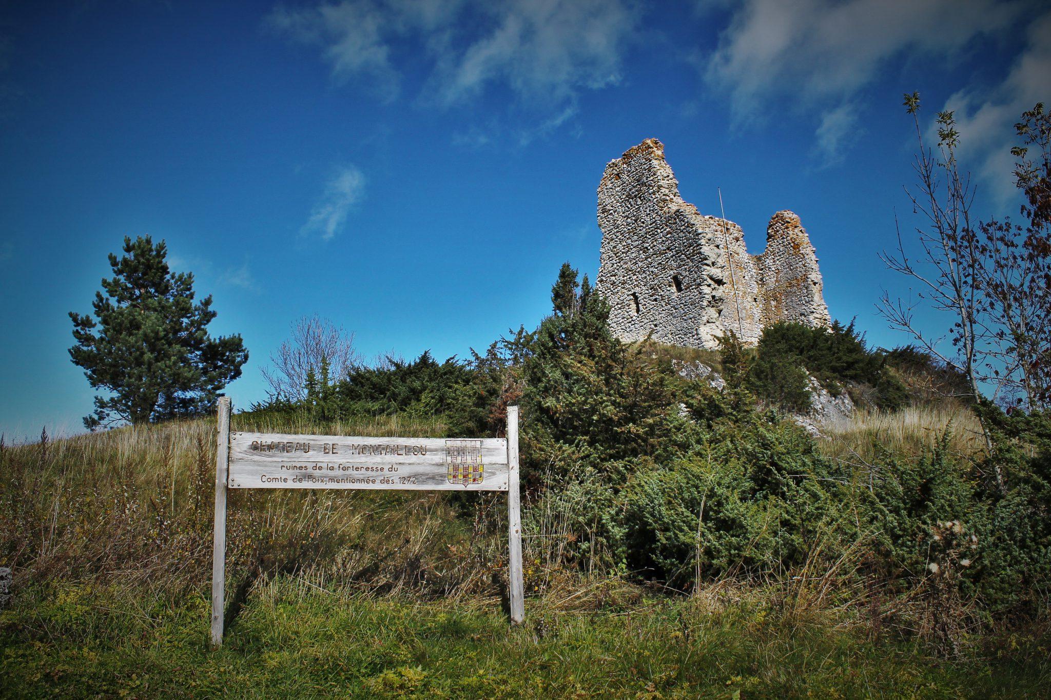 Les ruines du château de Montaillou
