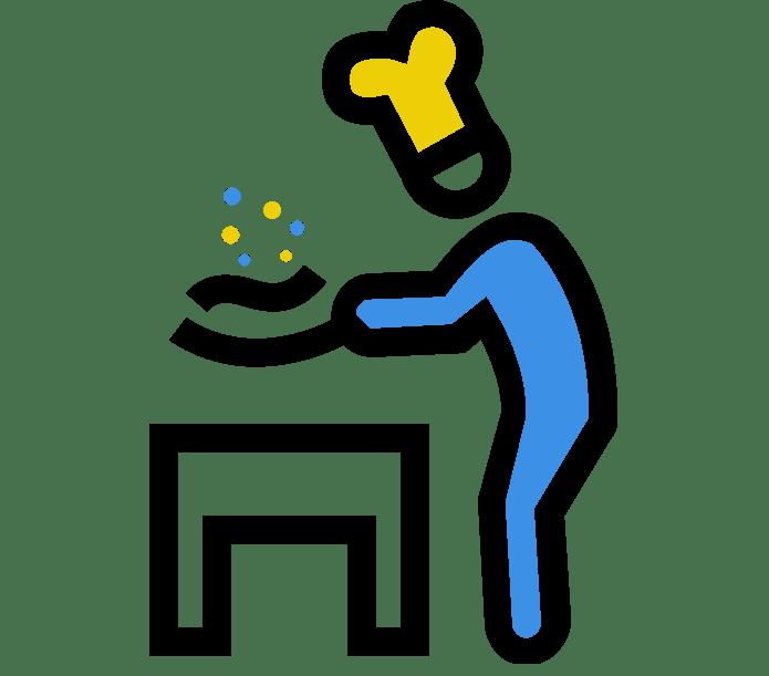 Icone de la Cuisine des Pradéens
