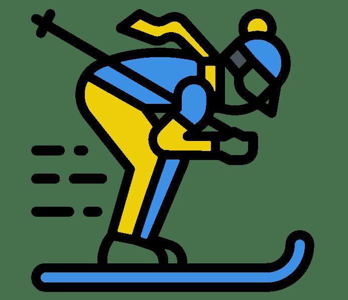 Icone du ski près de Prades