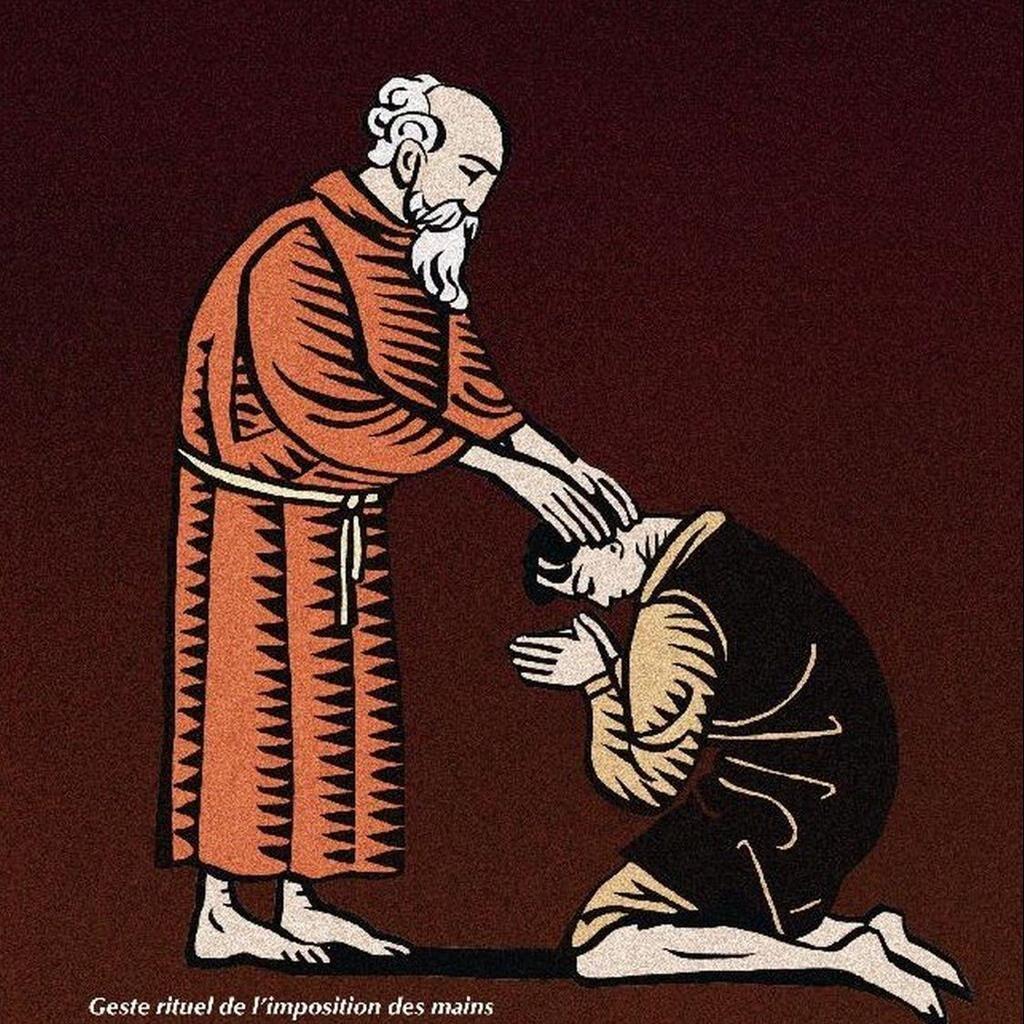 Geste rituel de l'imposition des mains chez les cathares