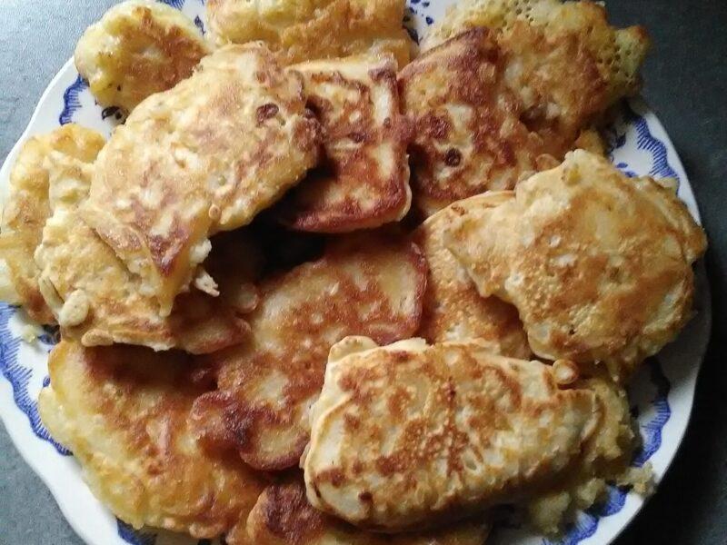 Beignets avec restes de pâtes au gratin